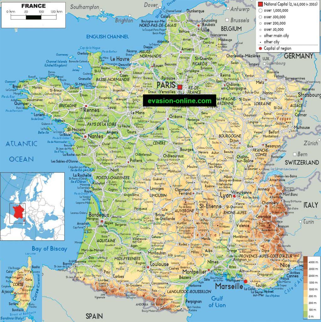 Carte de la France » Vacances - Arts- Guides Voyages