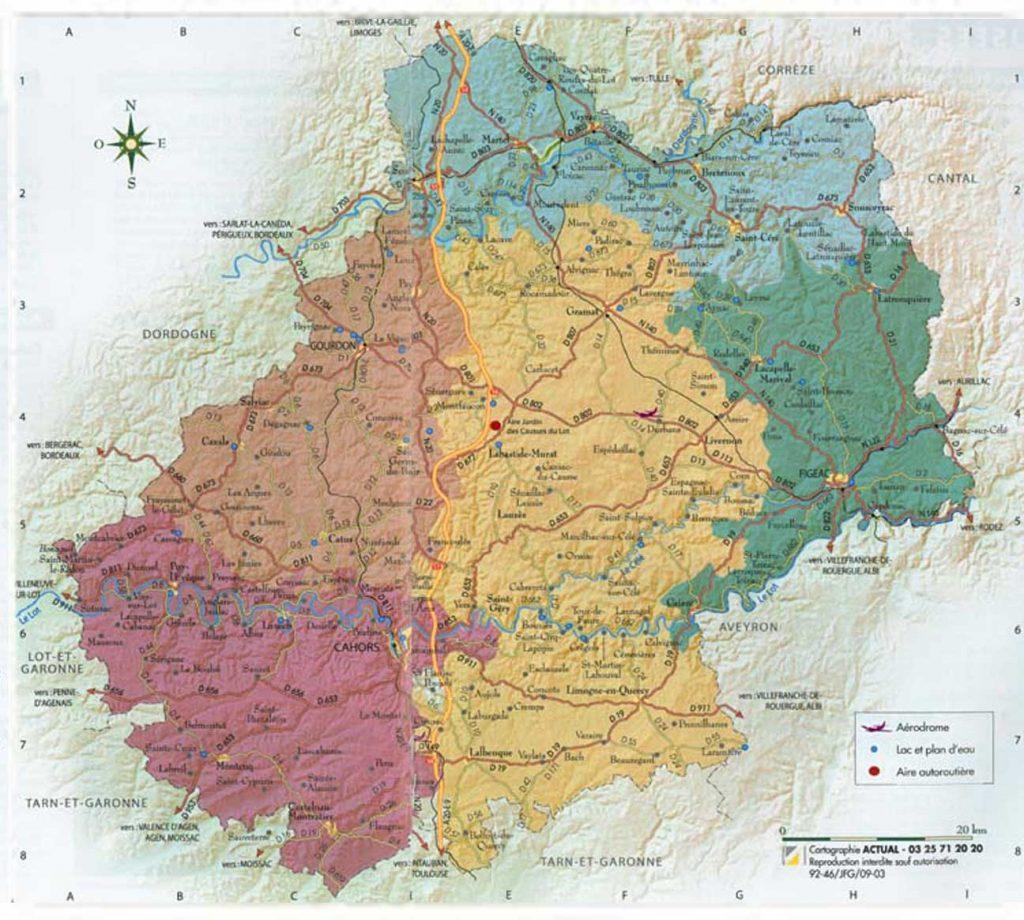 Lot - Carte détaillée