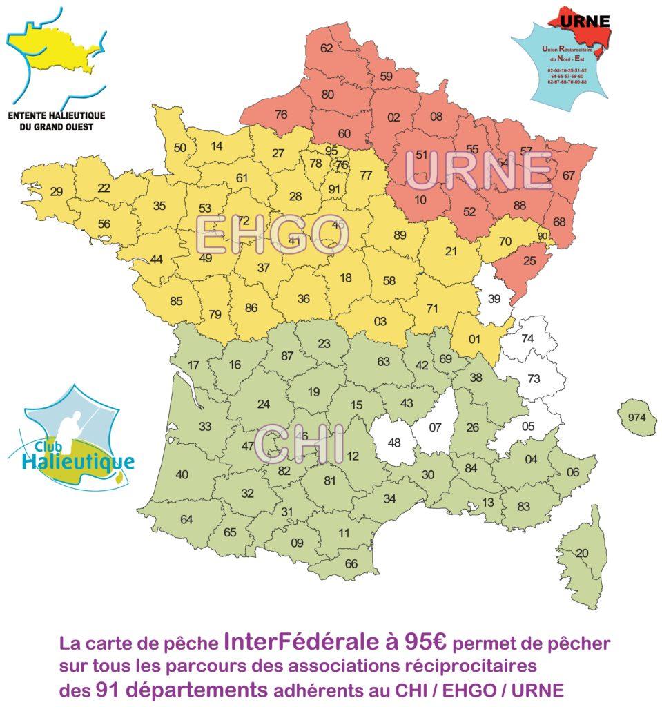 Pêche - Carte de France