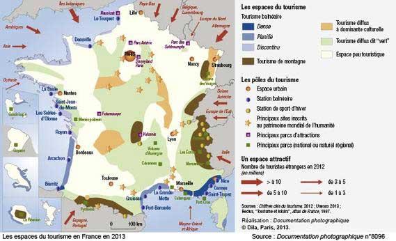 Carte tourisme France