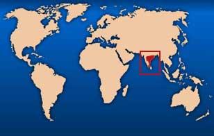 Inde carte monde
