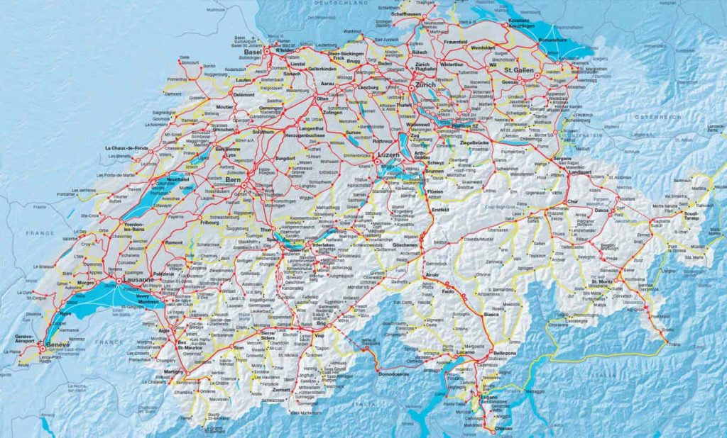Suisse - Carte