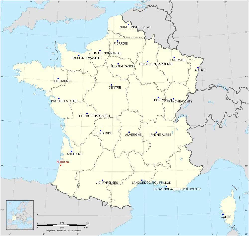 Mimizan - Carte de France