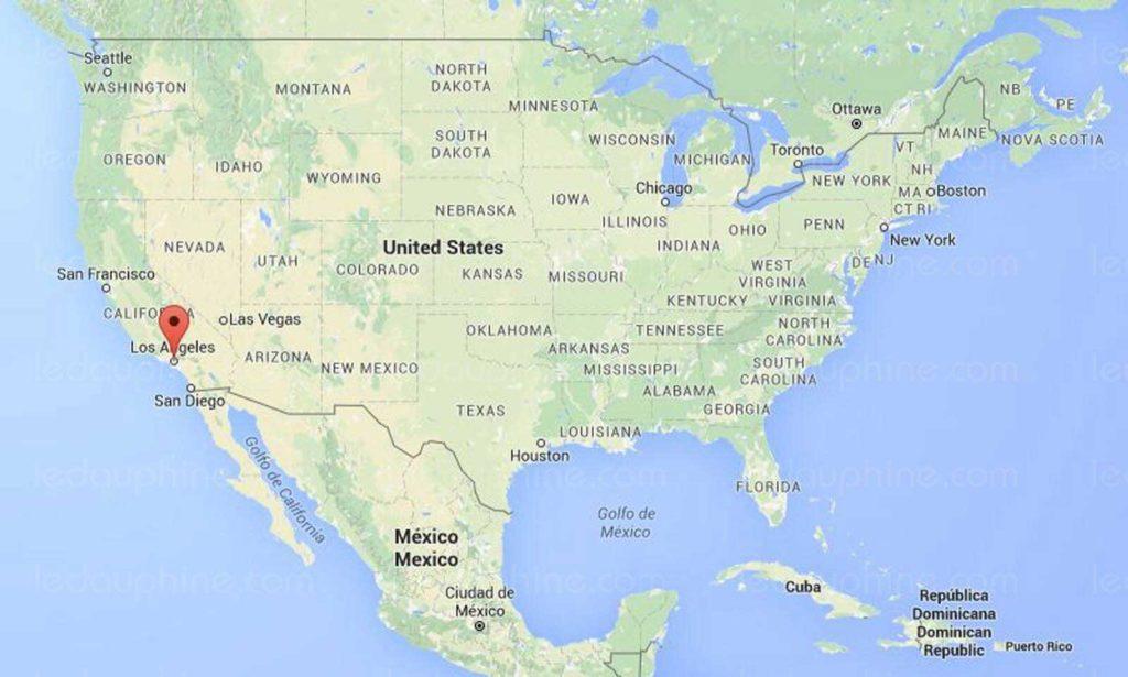 Carte de Los Angeles - USA