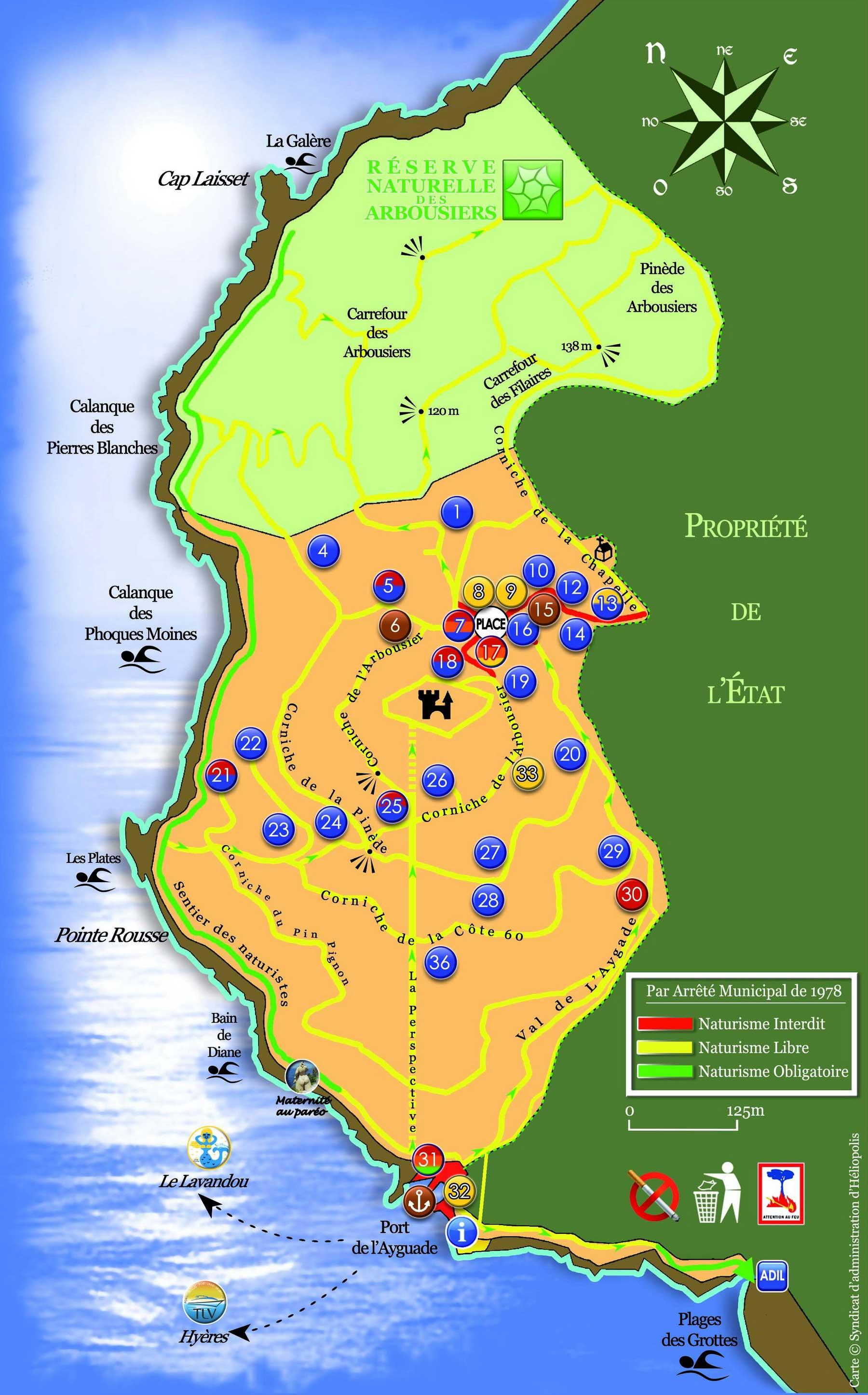 Ile du Levant - Carte