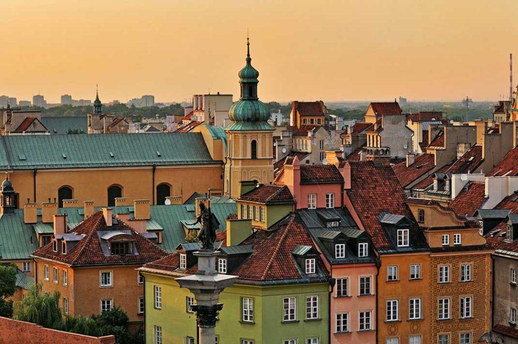 Ville de Varsovie en Pologne