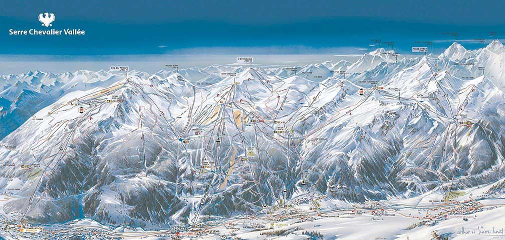 Serre Chevalier pistes de ski - plan