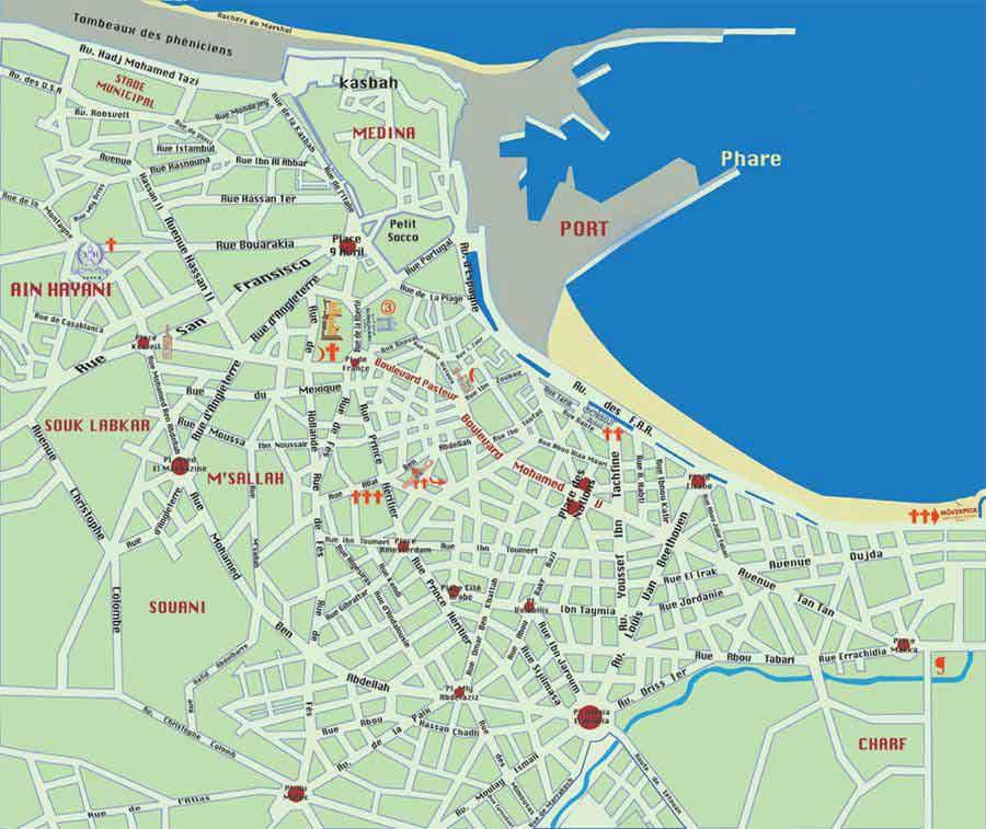 Plan de Tanger