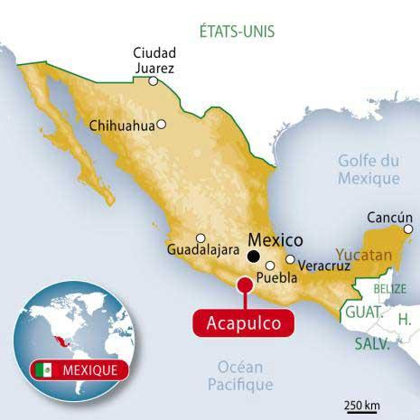 Acapulco - Carte