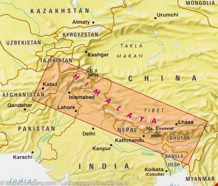 Himalaya - Carte