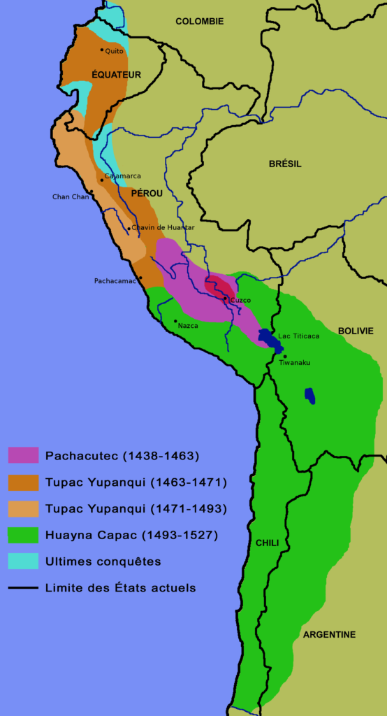 Empire inca - carte