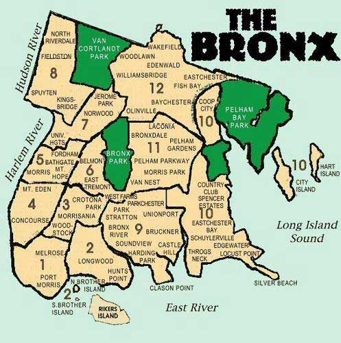 Carte du Bronx