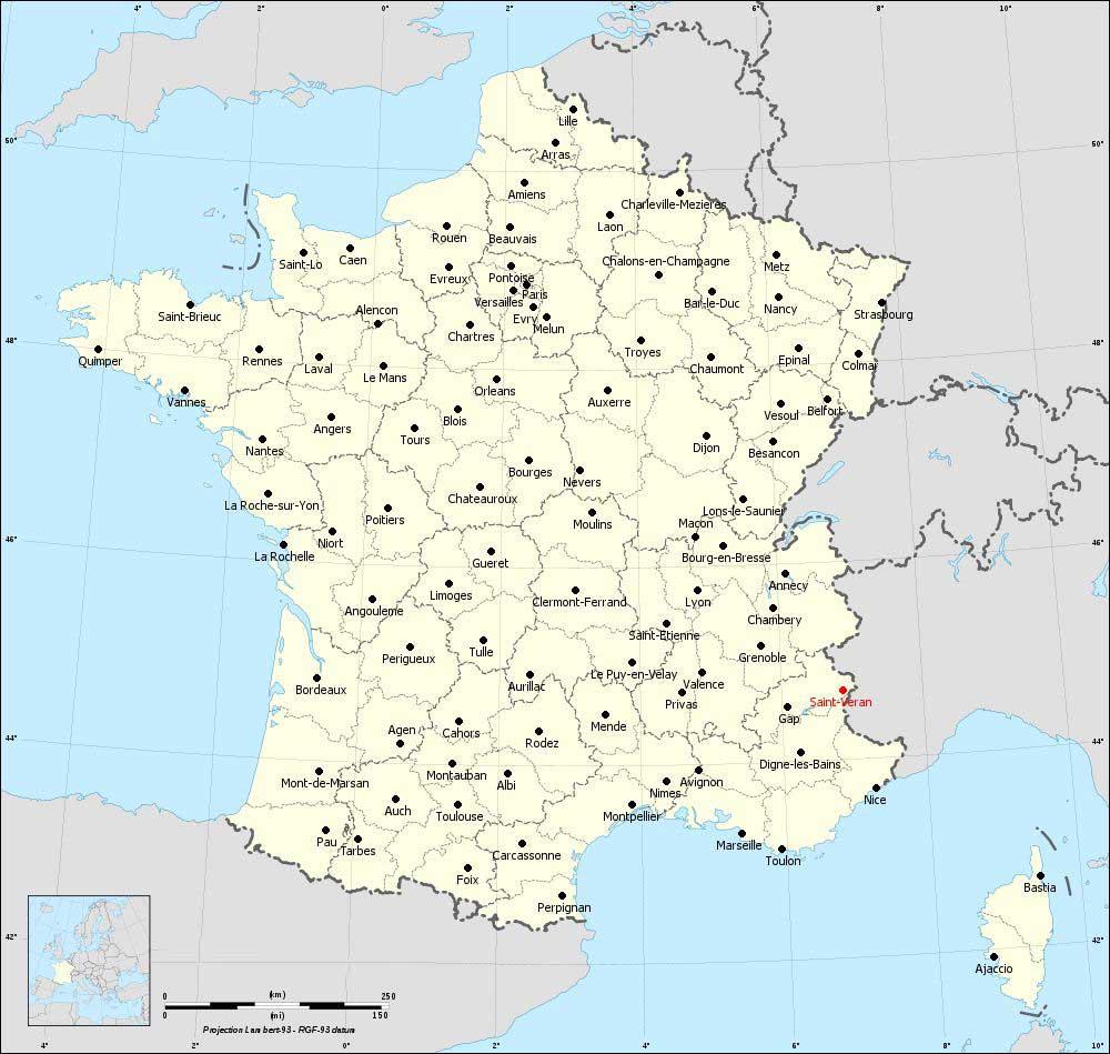 Saint Véran - Carte