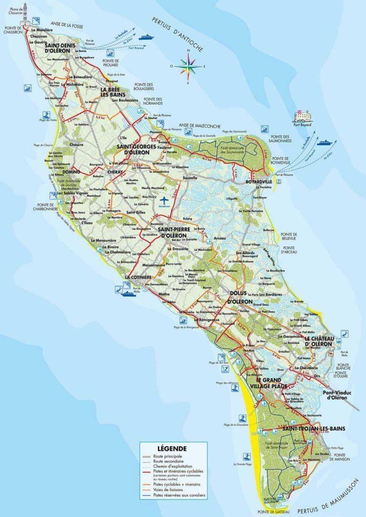 carte de l'île d'Oléron