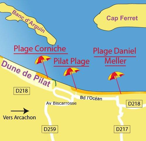 Carte Dune du Pilat