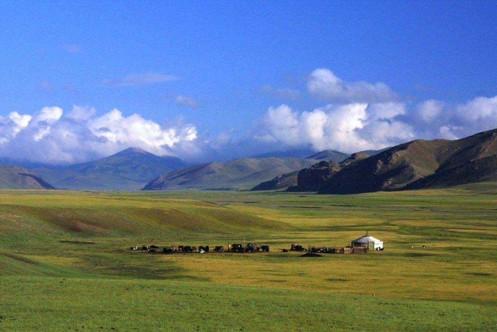 Paysage de la Mongolie
