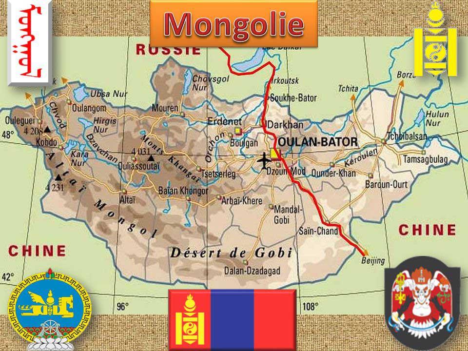 République de Mongolie - Carte