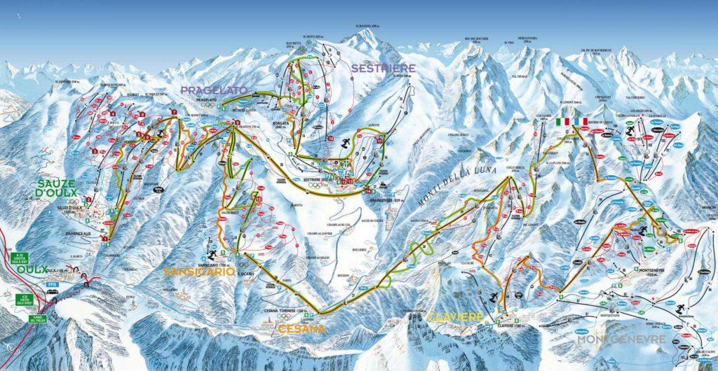 Sestrières - Pistes de Ski