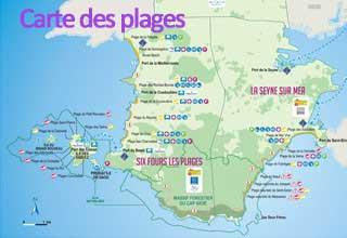 Carte de Six Fours - Plages