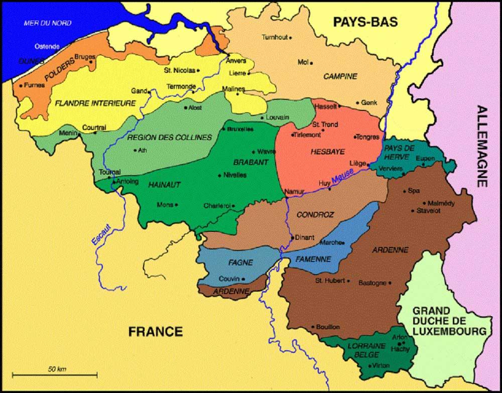 Carte - Département Ardennes » Vacances - Arts- Guides Voyages