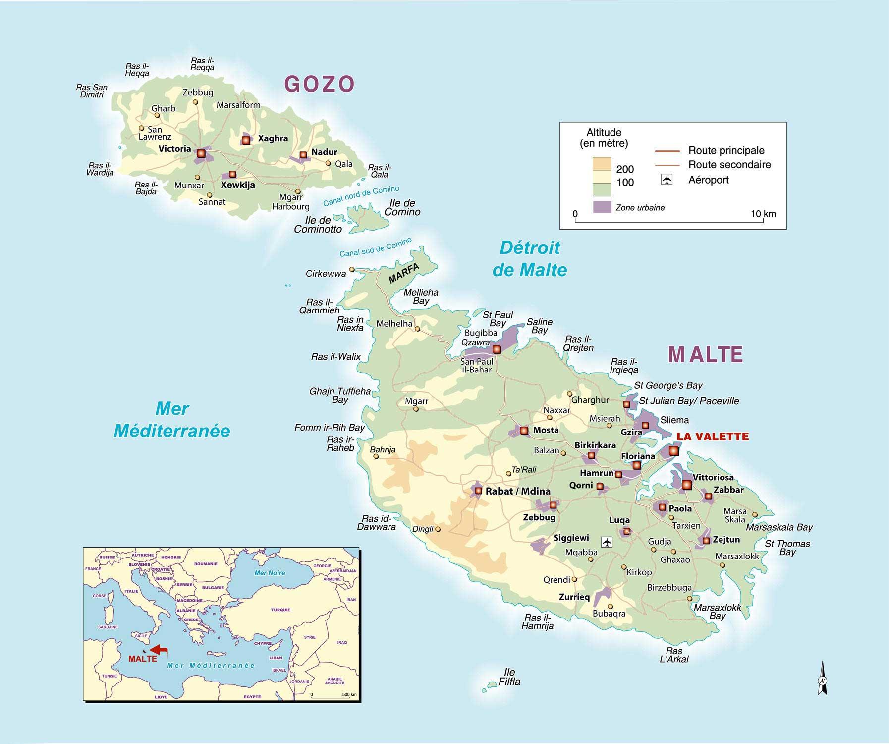 Ile de Malte carte