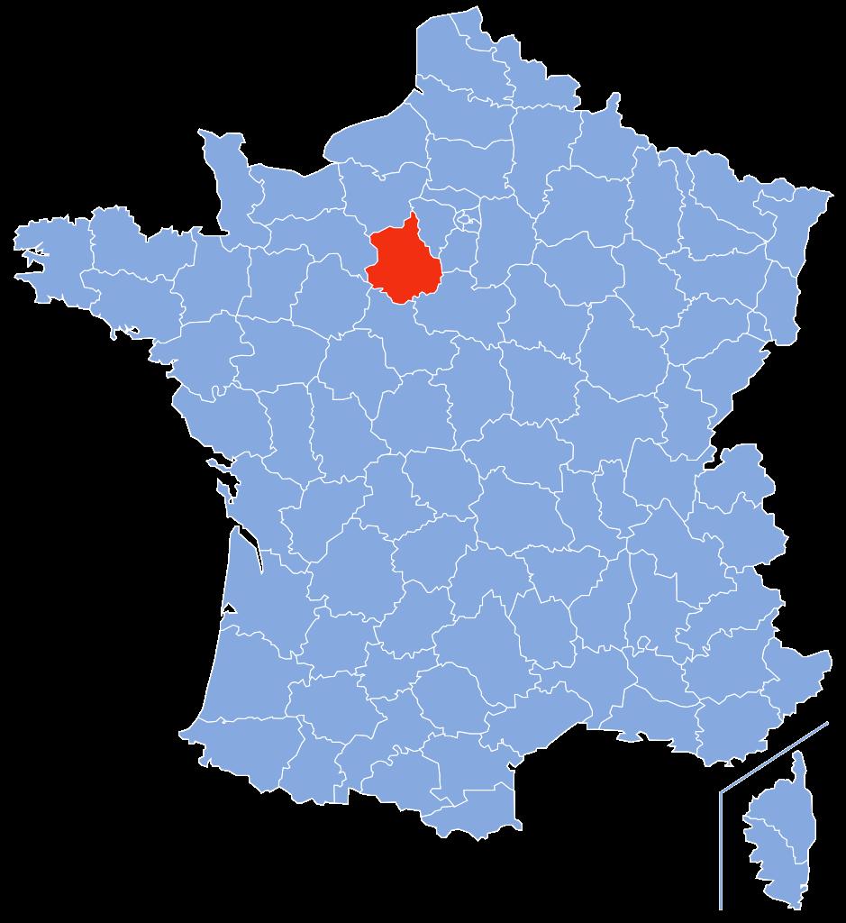 Eure-et-Loir sur la carte de France