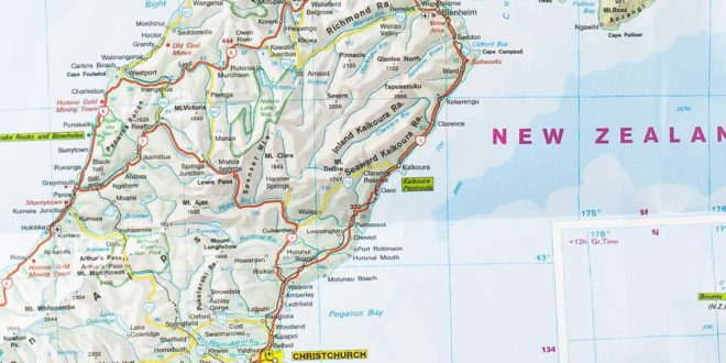 Carte routière de la Nouvelle Zélande