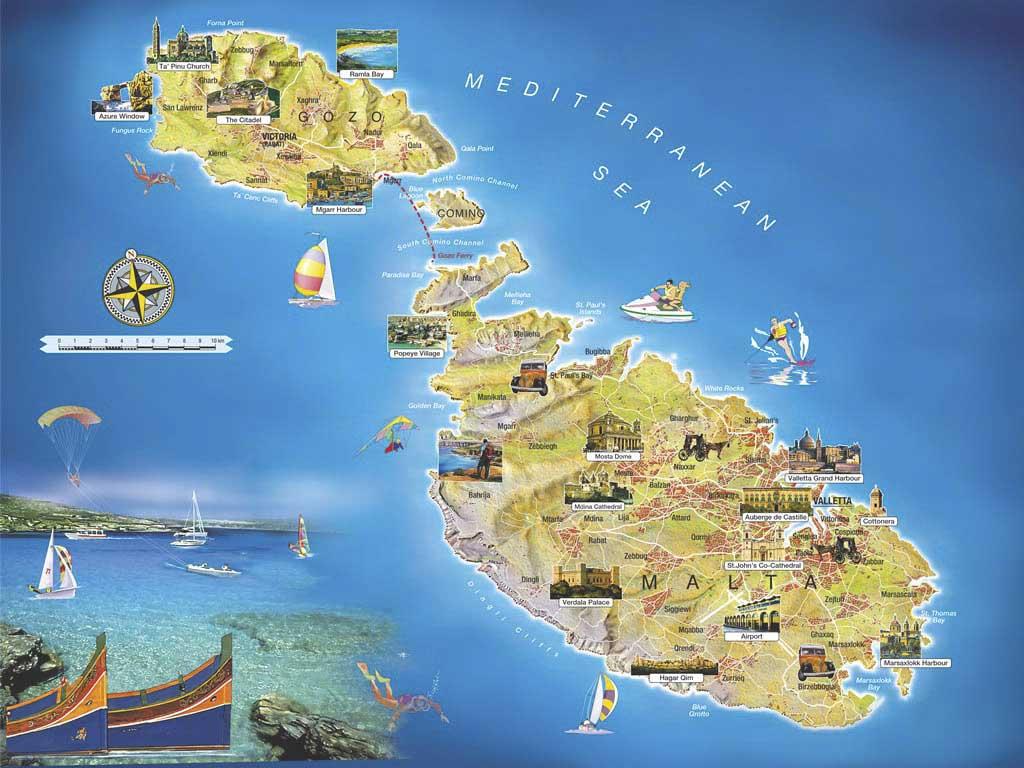 Carte de malte vacances arts guides voyages for Plan de malte