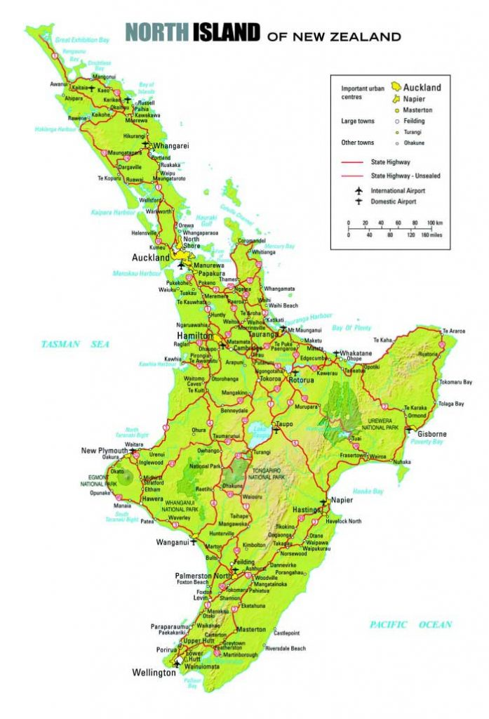 Carte routière Nouvelle Zélande