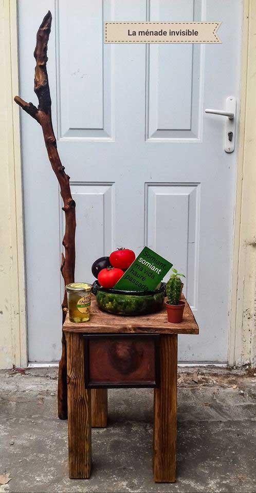 Petite table ou tabouret d'artiste