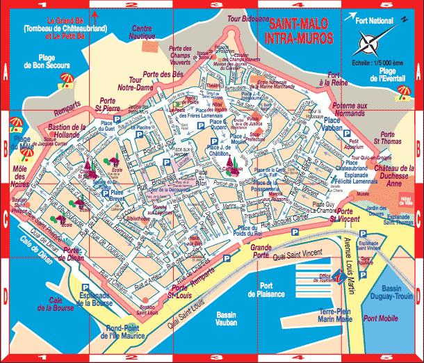 Plan de Saint Malo