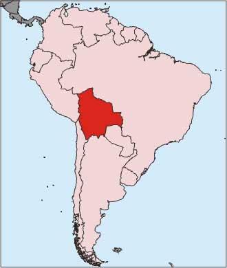 Bolivie - Carte du monde