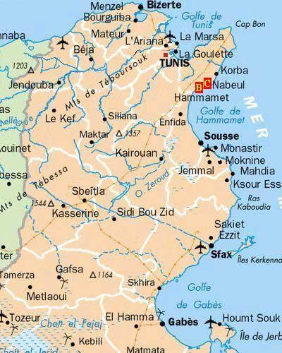 Tunisie - Carte détaillée