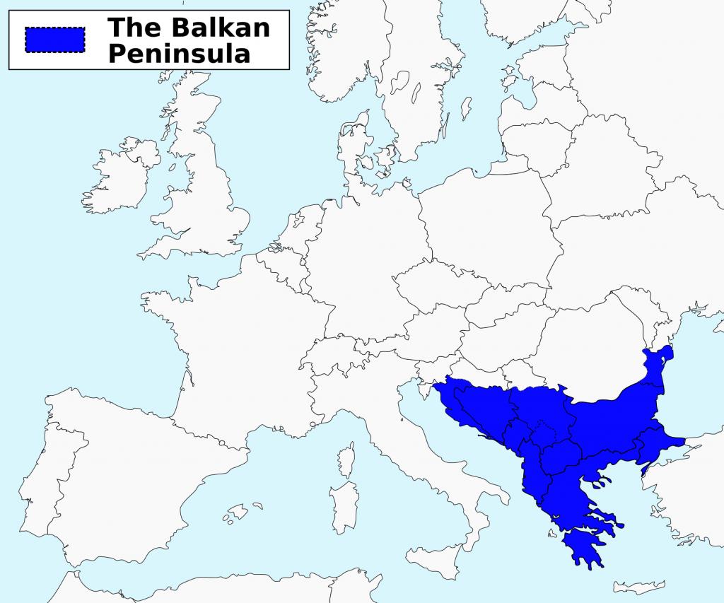 Balkans- carte du monde