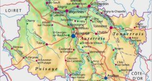 Carte du département 89 - Yonne