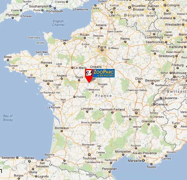 carte zoo de beauval Carte de France   Zoo de Beauval » Vacances   Arts  Guides Voyages