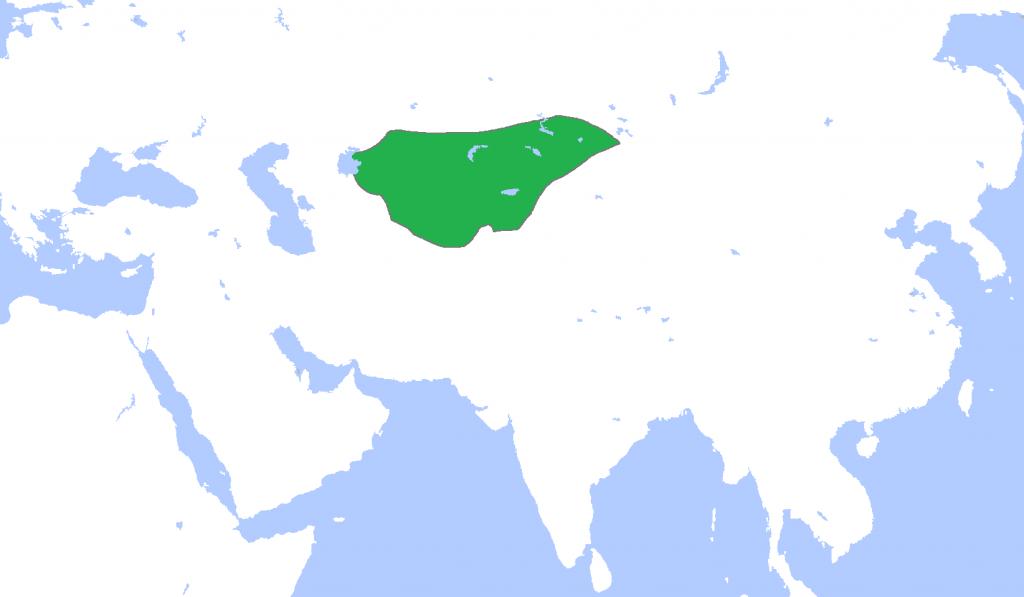 Carte empire Kara Khitaï