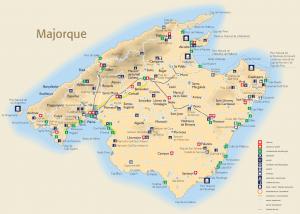 Carte touristique de Majorque