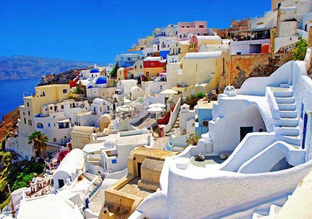 Photo de maisons de Santorin