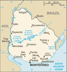 Carte Uruguay