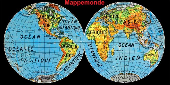 mappemonde europe asie
