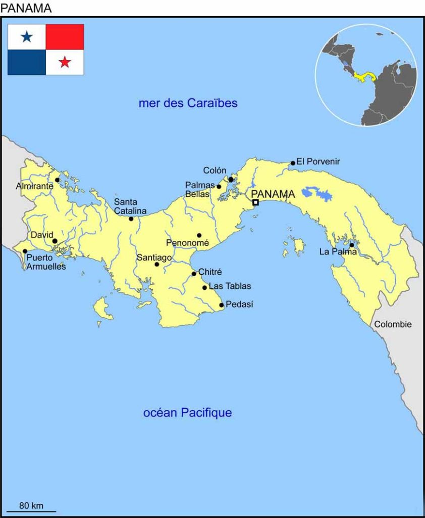 Plan du Panama - carte du monde