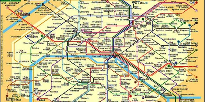 Plan - Métro Paris