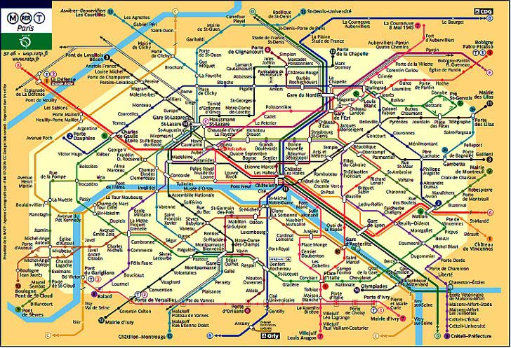 carte metro paris - Photo