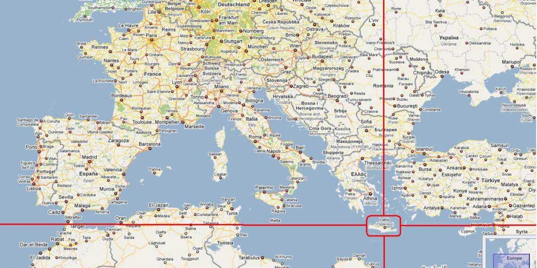 La Crète sur la carte du monde