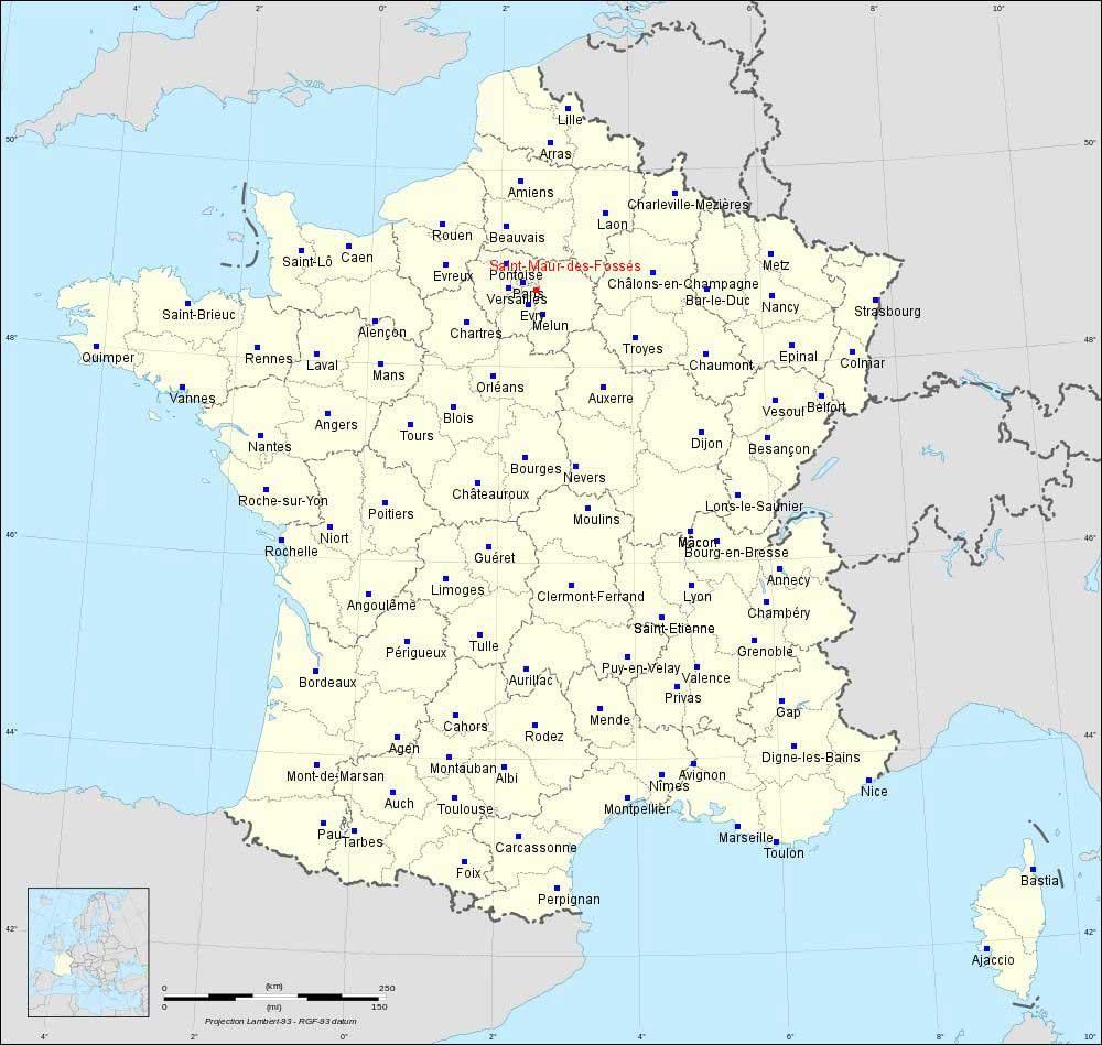 Saint-Maur-des-Fossés - Carte France
