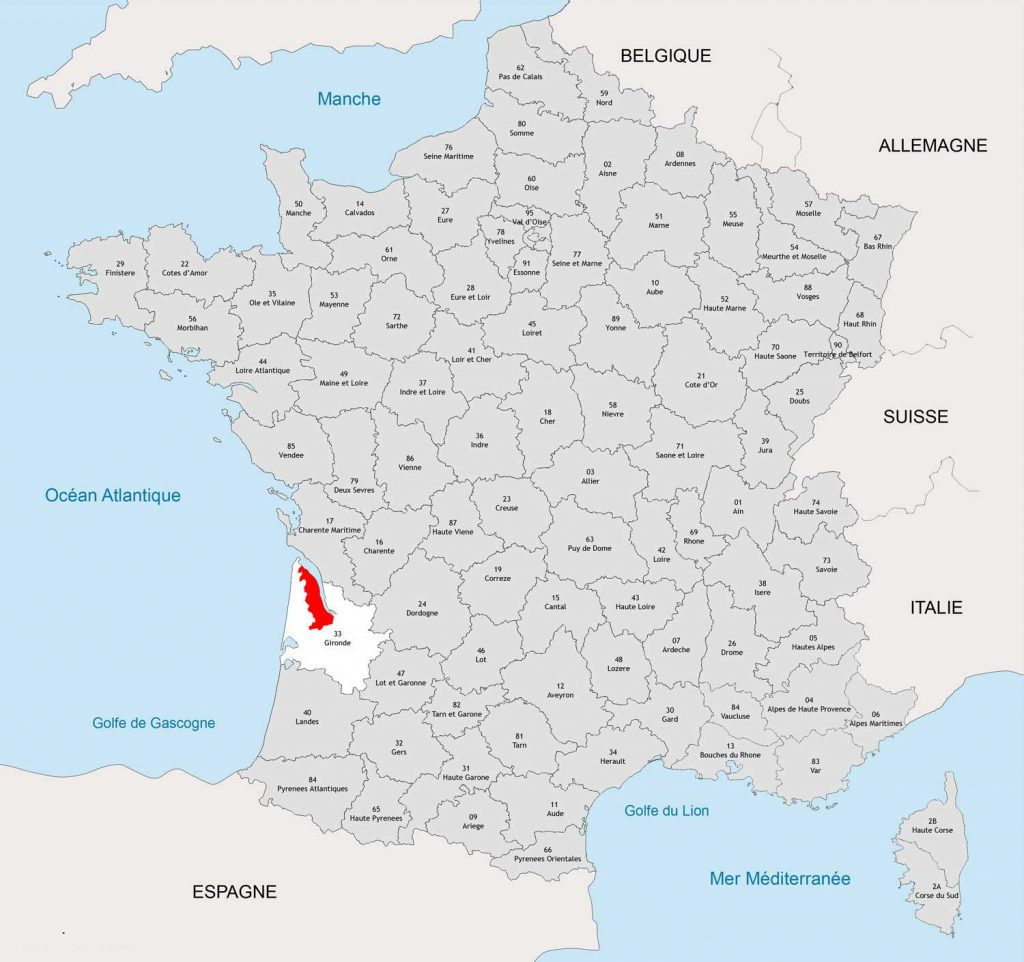 Médoc carte de France