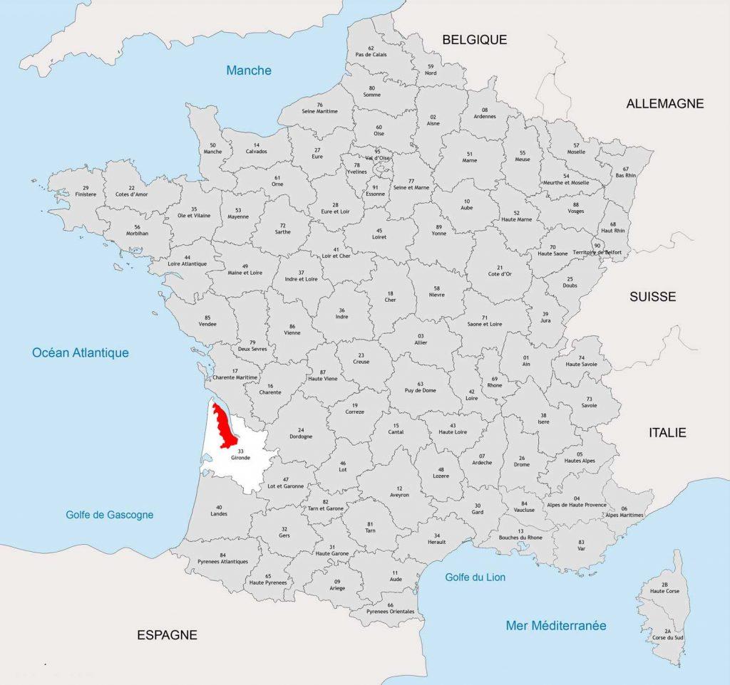 Médoc carte de France