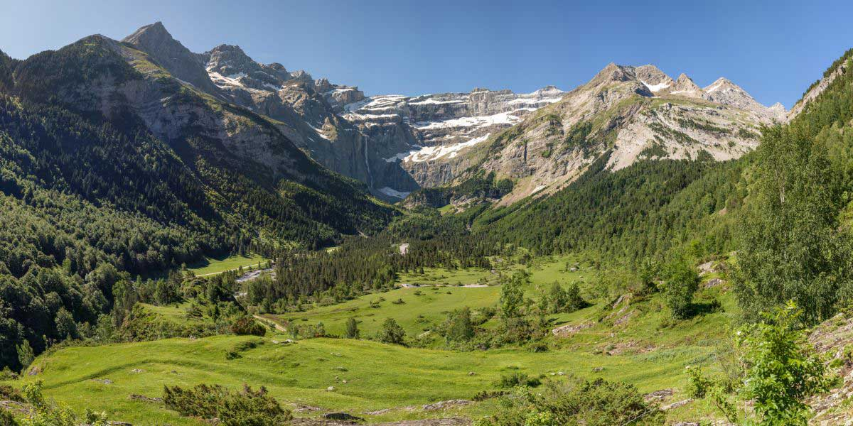 Photo montagne en été