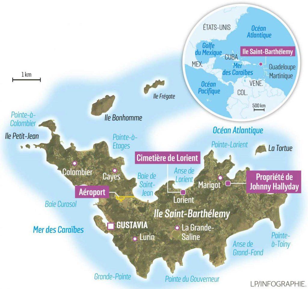 Saint-barthelemy carte